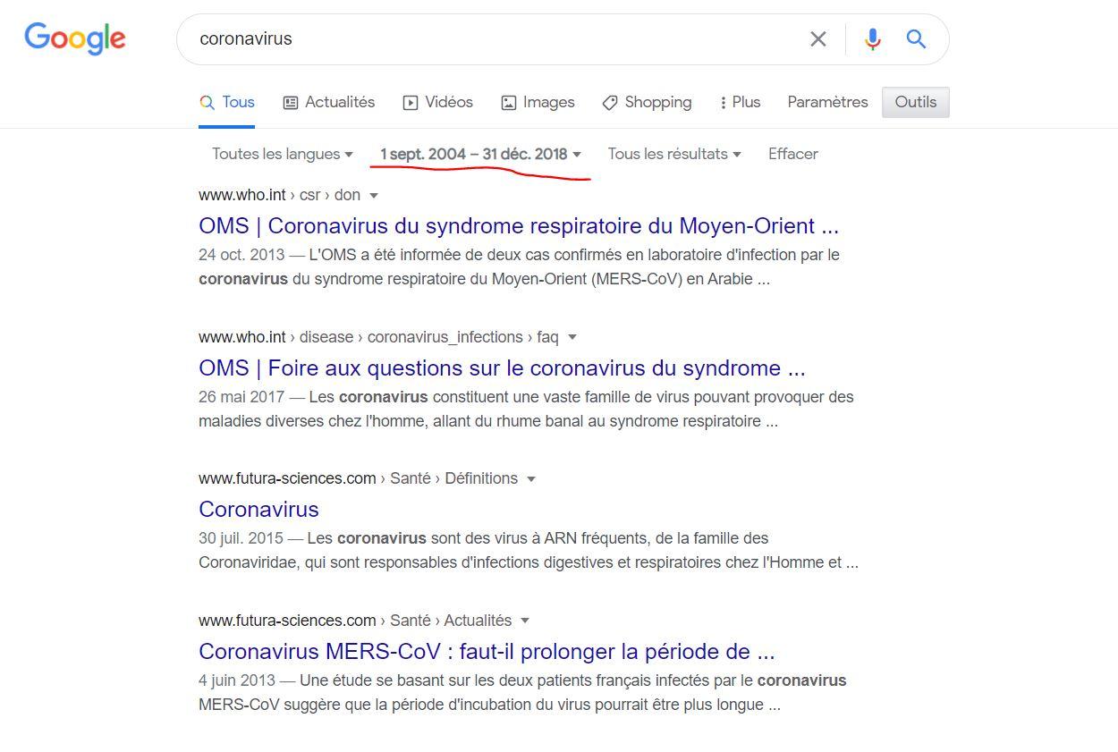 coronavirus google 2018